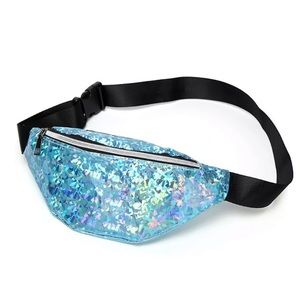 Handbags - NEW! BLUE HOLOGRAPHIC REFLECTIVE FANNY PACK